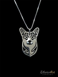 Pembroke Welsh Corgi jewelry - sterling silver pendant