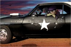 """The Stylo is a car (that can transform into a shark-like submarine or an eagle-like plane) that appears in the videos for """"Stylo"""", """"On Melancholy Hill"""", """"DoYaThing"""", """"Brain Attack"""", """"Hydrone"""" and """"PlayStation Ultimate Rush Force"""". Its owner is probably Murdoc Niccals. Appearance Car: The Stylo as a car is a 1969 Chevrolet Camaro (first generation). The car is painted black, with a white roof. It has several scrapes along its left sid..."""