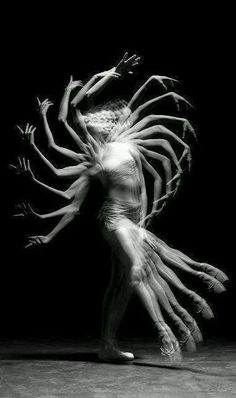 This photo is able to convey the movement of the dancer in a creative way and creates a cool way of mapping out her movement.: