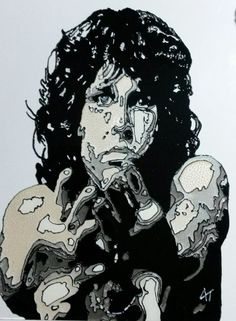 Jim Morrison Glass Painting https://www.facebook.com/AngiesGlassworks?fref=ts