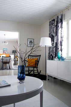 Indoor Outdoor, Outdoor Decor, Marimekko, Cottage, Living Room, Architecture, House Ideas, Design, Home Decor