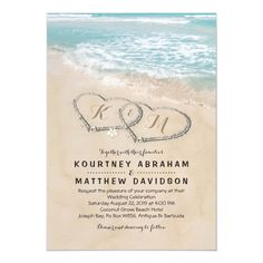 Tropical Vintage Beach Heart Shore Wedding Invitation - tap/click to get yours right now! #Invitation #wedding #tropical #beach #seaside #destination Beach Wedding Reception, Seaside Wedding, Wedding Rsvp, Wedding Tips, Wedding Cards, Rustic Wedding, Wedding Planning, Wedding Venues, Dream Wedding