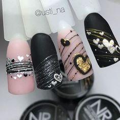 nail makeup and nail makeup nail art nailart nail makeup nail art designs brush nail designs airbrush makeup nail makeup makeup ideas Minimalist Nails, Cute Acrylic Nails, Gel Nail Art, Nail Nail, Love Nails, Pretty Nails, Ten Nails, Nagel Bling, Valentine Nail Art
