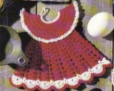 Dress Potholder free crochet pattern