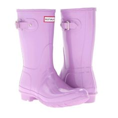 Hunter Original Gloss Short Rain Boot - Wisteria Hunter. $114.90