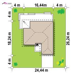 Z301 to wyjątkowy dom z kategorii projekty domów z garażem dwustanowiskowym Piscina Interior, New House Plans, Interior Exterior, Planer, Bar Chart, New Homes, Floor Plans, Diagram, How To Plan
