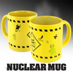 Tired of people using your mug? Warn them off with this stylishly designed glow in the dark Nuclear Mug.