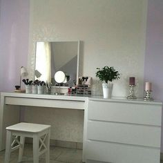 updated vanity malm desk ikea alex drawers ikea bella storage bench home depot - PIPicStats Home Bedroom, Bedroom Decor, Master Bedroom, Bedroom Ideas, Stairs Master, Decor Room, Bedroom Styles, Girls Bedroom, Master Bath