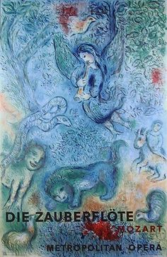Marc Chagall, Metropolitan Opera, The Magic Flute, Offset Lithograph, 1966
