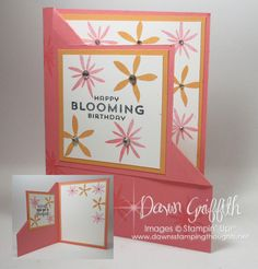 Corner Flip card , Corner Flip card video posted on my blog today . Such a sweet birthday card using the Flower Patch stamp sets which is one of my favorite sets, Plus it's retiring this year . check out all the details on today's card over on my blog Dawnsstampingthoughts.net Dawn Griffith