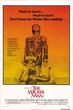 The Wicker Man 1973 with  Edward Woodward, Christopher Lee, Diane Cilento and Britt Ekland.