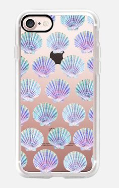 Casetify iPhone 7 Case and Other iPhone Covers - Sea shell pattern by MARTA OLGA KLARA | #Casetify #shell #mermaid #pastel #pink