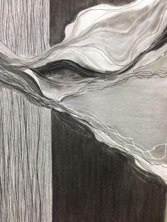 Mixed media op papier. 70x 1.20m.  Door Inge van Steen.  Www.ingevansteen.com