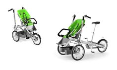 if i had unlimited funds, i would totally splurge on one of these guys!!   Taga Child Carrier Bike and Luxury Baby Stroller In One