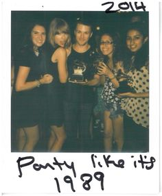 Taylor partying with her lucky fans who won tickets to Yahoo Live stream. She is a star