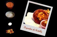 cupcake de nutella com penas 4 ingredientes em português!