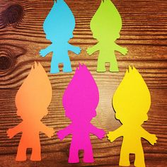 Troll People Cut Outs Great for Birthday Parties and more. Cardstock Cut Outs Photo taken on a Regular Sized Sheet of Paper At least cardstock. First Class Shipping: Business Days Priority Mail: Business Days Express Shipping: Business Days Trolls Birthday Party, Troll Party, 2nd Birthday Parties, 4th Birthday, Candy Invitations, Los Trolls, Truck Or Treat, Troll Costume, Kids Activities At Home