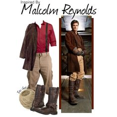 """Inspired by Malcolm Reynolds"" by found on Polyvore...the best part...someone threw a ball of twin into the mix!  @Jennifer Lawson"