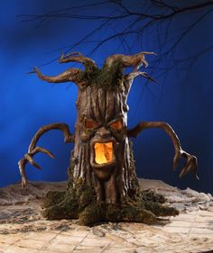 Paper Mache Haunted Tree from TheHolidayBarn.com