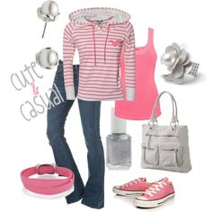 Cute & Casual, created by kitkat137 on Polyvore