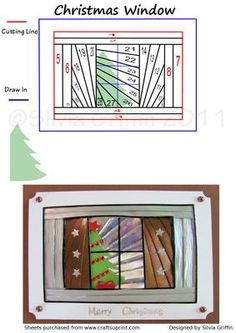 Christmas Window Iris Folding