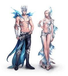 Sea feast armor set designed to mimic the look of the tejhi race, the sea f Fantasy Character Design, Character Concept, Character Inspiration, Character Art, Fantasy Characters, Female Characters, Anime Fantasy, Fantasy Art, Merman Costume