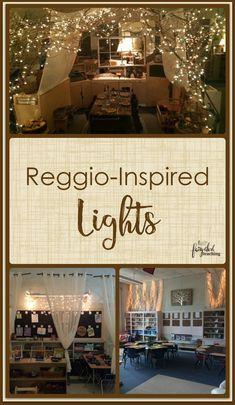 Always loved these Reggio Inspired – Lights l Fairy Dust Teaching Infant Classroom, New Classroom, Classroom Setting, Classroom Setup, Classroom Design, Forest Classroom, Daycare Design, Autism Classroom, Reggio Emilia Classroom