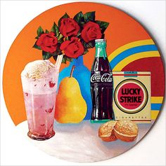 Tom Wesselmann - The range of object show very clearly against the simple background. This allows focus to centre in the middle of the art and the random composition gives a feeling of still life.