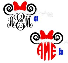 Hey, I found this really awesome Etsy listing at https://www.etsy.com/listing/179449558/minnie-mouse-monogram-with-bow-and-ears