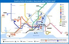 Istanbul metro and tram map