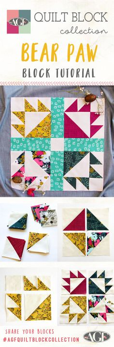 How to Make a Bear Paw Block | AGF Quilt Block Collection Tutorial