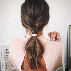 Simple and sophisticated, a minimalist metal cuff adds polish to a messy ponytail or quick plait. Br... - Photo: Via @laurapolko/Instagram.