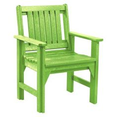 Outdoor CR Plastic Generations Dining Arm Chair Kiwi Green - C12-17