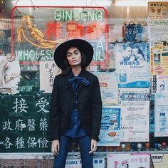 """""""Photo by @samrobles and make @babimoura86  #Chinatown #photoshoot #nyc"""""""