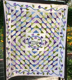 A guest book quilt is a wonderful way to keep memories of who was there...weddings, baby showers, a special anniversary, retirement parties,