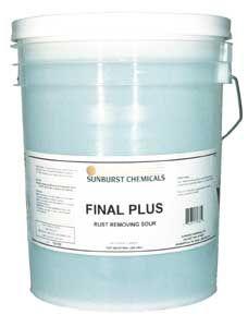 Sunburst Final Plus Rust Removing Sour - 5 Gal. Pail for only $148.91