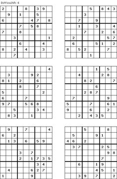 printable sudoku Sudoku Puzzles, Word Puzzles, Brain Busters, Maila, Puzzle Books, Cellphone Wallpaper, Neuroscience, Riddles, Mathematics