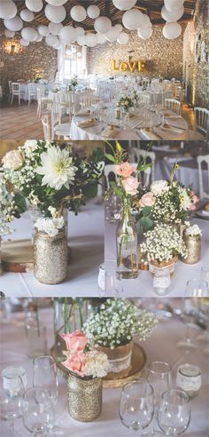 Xavier Grange de Camp Long Coudoux – E. -Chloé + Xavier Grange de Camp Long Coudoux – E. Trendy Wedding, Diy Wedding, Rustic Wedding, Wedding Reception, Wedding Flowers, Wedding Day, Reception Ideas, Glitter Wedding, Table Wedding