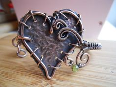Mended Heart Bangle Cuff Bracelet Wire Wrapped by OurFrontYard, $37.77