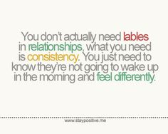 Not Putting A Label On A Relationship