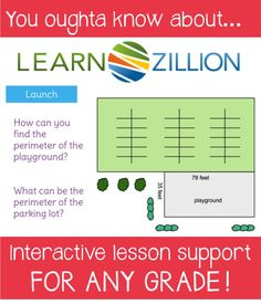 How Learn Zillion can help you freshen up your lessons and increase student learning. This site has interactive lessons for all grade levels!