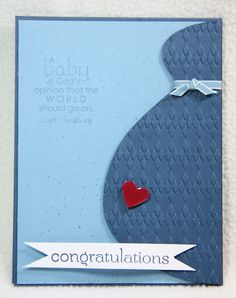 Stampin Nerd: Baby on the Way ... Congrats