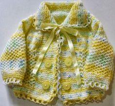 Bebek Çocuk Elişi Örgüler: Ceket Örgü Giyim Modeli