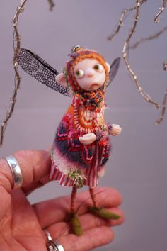 fairy scene OOAK polymer clay art dolls fairies gnomes and elves by Lindsey ... DinkyDarlings