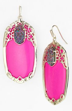 Pop of pink by Kendra Scott http://rstyle.me/n/ntys2n2bn