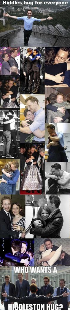 Hiddles Gives The Best Hugs. Lots And Lots Of Hugs, To Everyone! | Community Post: This Post Will Destroy Your Life - Tom Hiddleston