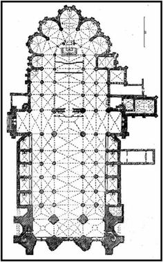 Plan of Cathedral at Troyes