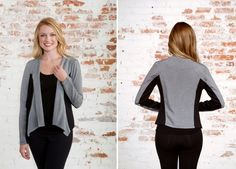 Every deliberate detail of Brittney's design, from the angled front hem to the shoulder seaming and contrasting black side panels, was chosen to create a slimming, visually interesting effect without ever sacrificing comfort.