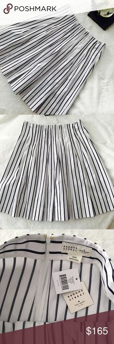 """kate spade NWT """"Broome Street"""" Skirt Classically Nautical Navy & Crisp White Skirt just in time for Spring! kate spade """"Broome Street"""" Stripe Cotton Skirt •22&1/2"""" Length •Hidden Back-Zip Closure •Shell: 86% Cotton, 14% Polyester •Trim: 100% Cotton •Machine Wash Cold, Delicate Cycle •Tumble Dry Low •OR Dry Clean kate spade Skirts A-Line or Full"""