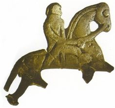 Silver amulet of Horse is one of a  pair found in a grave  9th Century CE, Birka, sweden
